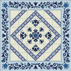 Irish Wedding Quilts   the beautiful blue and white quilt above is an adaptation