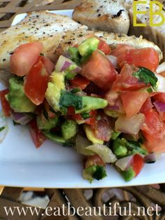 Pico de Gallo~ con Avo! {and how to cook fresh fish to go with it!} - Eat Beautiful