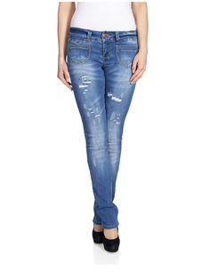 15079028 Straight low ebba destroy jeans