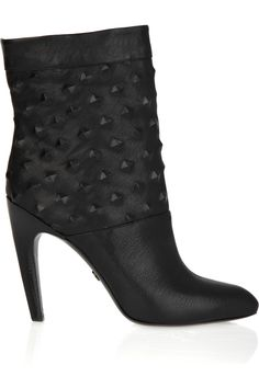 EMILIO PUCCI: Studded leather ankle boots