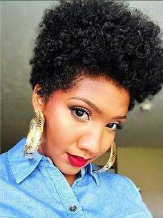 Curly Tapered Fro! This is also a great hairstyle for someone growing out a mohawk or shaved sides hair cut.