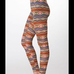SUPER SOFT AZTEC LEGGINGS These Leggings are Olive & Blue with a trendy Aztec print. They are super soft! They would look great with a slouchy top. Sizes S, M, L. Polyester/Spandex. No trades. Pants Leggings