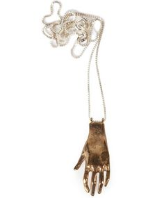 Bronze Hand Necklace by Open House.