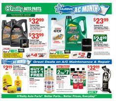 O Reilly Auto Parts May 31 - June 27, 2017 - http://www.olcatalog.com/oreilly-auto/oreilly-auto-parts.html
