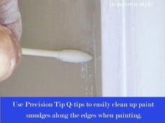 Precision Q-tips are your friend. | 47 Tips And Tricks To Ensure A Perfect Paint Job