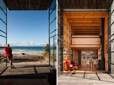 This portable beach hut built on sleds in #NewZealand houses a family of 5.