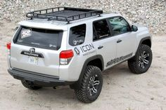 with rack. and I want the back to be a walk in closet. hook up with my tea drop, and explore! Toyota 4runner Trd, Toyota 4x4, Toyota Trucks, 4runner 2015, Toyota Tacoma, Fj Cruiser, Toyota Land Cruiser, 4runner Accessories, Roof Basket