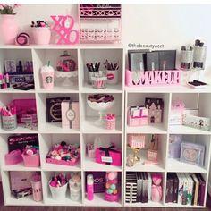 Inspiração pra prateleiras #quarto #quartodecorado #rosa