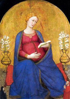Madonna del Parto, Antonio Veneziano, XIV sec. Pieve di San Lorenzo a Montefiesole.