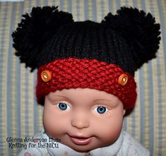 Mickey, the Famous Mouse, is knitted with any easy care, non- animal fiber worsted weight red and black yarn that makes up to 16 stitches x 20 row to equal 4 inches. It's sized to fit four sizes of babies from micro preemie, up to 2.5 lbs thru Newborns. It's a perfect pattern for charity knitters who create cute hats for NICU's, Pediatric Units, and Newborns in Need or as a gift to any newborn baby.