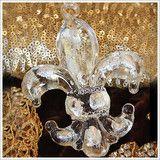 glass Fleur-de-Lis ornament