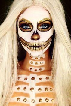 Cool and Glamorous Skeleton Makeup Ideas - Parties themes - Halloween Brown Matte Lipstick, Natural Lipstick, Mascara Primer, Best Mascara, Halloween Makeup Looks, Halloween Skull, Costume Makeup, Party Makeup, Fun Makeup