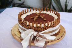 Torta tiramisù Baby Girl Birthday, Cannoli, Sweet Recipes, Good Food, Food And Drink, Birthdays, Cookies, Cream, Ethnic Recipes