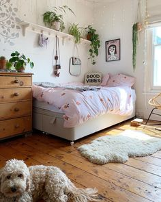 AD If your teen has outgrown their single bed but their room is too small for a double bed then consider a four foot wide small double. Teen Bedroom Designs, Cute Bedroom Ideas, Cute Room Decor, Teen Room Decor, Small Bedroom Ideas For Teens, Single Bedroom, Small Room Bedroom, Home Bedroom, Bed Room