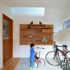 玄関土間は自転車ピットの部屋 玄関