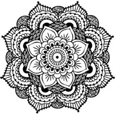 Mandala Tattoo, Black Mandala, Henna Mandala Temporary Tattoo (Set of 2)