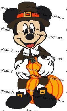 Thanksgiving Pilgrim Crochet Graph Blanket Pattern by StarrYarns on Etsy Disney Thanksgiving, Thanksgiving Crafts, Happy Thanksgiving, Christmas Scarf, Christmas Elf, Half Double Crochet, Single Crochet, Red Heart Yarn Colors, Disney Mickey