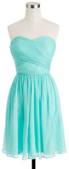 Brenna's dress: Love this: Arabelle Dress in Silk Chiffon sunwashed aqua, jcrew