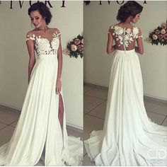 Charming Prom Dress, Long Prom Dress,Chiffon Evening Dress,White Prom Dress - - Hochzeitskleid 2019 - Lilly is Love Prom Dresses 2016, Long Wedding Dresses, Cheap Dresses, Evening Dresses, Wedding Gowns, Dress Prom, Ivory Wedding, Prom Gowns, Dresses Dresses