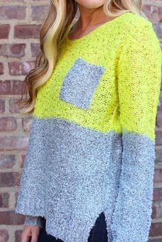 Neon Sequin Sweater