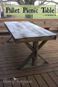 DIY Pallet Picnic table (scheduled via http://www.tailwindapp.com?utm_source=pinterest&utm_medium=twpin&utm_content=post412087&utm_campaign=scheduler_attribution)