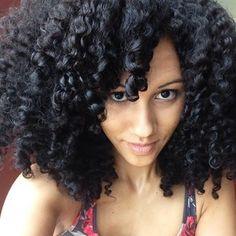 Big natural hair! #curls #twistout #BSL