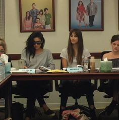 Shay Mitchell and Troian Bellisario // Pretty Little Liars Table Read