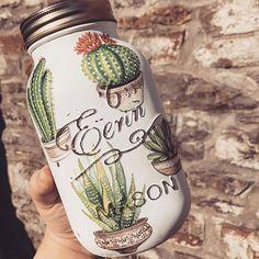 Succulent cactus mason jar home decor natural home hygge Mason Jars, Mason Jar Crafts, Hygge, Cactus Decor, Cactus Diys, Cactus Cactus, Arts And Crafts, Diy Crafts, Cacti And Succulents