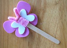 popsicle stick crafts | Butterfly Popsicle Stick Puppet Craft | Crafts | Parents Connect
