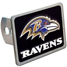 Baltimore Ravens NFL Hitch Cover by Siskiyou. $21.57. Go Half Time Baltimore Ravens NFL Hitch Cover is hand painted with 3-D carved logo. Includes hardware and fits class II and class III hitches. It is enameled on durable, rust-proof zinc.