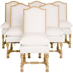 Set of Six 19th Century Louis XIV Style Dining Chairs 1