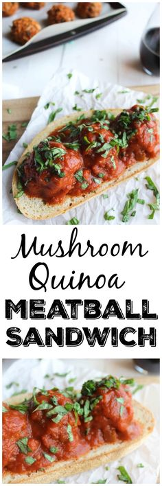 Quinoa, Spinach + Mushroom Meatballs (Vegan Option) | Recipe | Quinoa ...