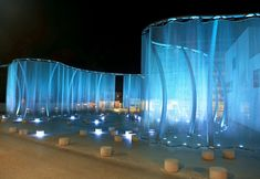 light instalation-could be cool for an outdoor wedding