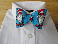 Cat in the Hat bow tie by sewfairycute on Etsy.  A Vancouver Island Etsy Team Member