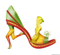 Running Michel Tcherevkoff Shoe Fleur 02 Concept and photography © Michel Tcherevkoff