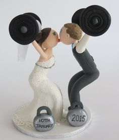 Personalised Crossfit Cake Topper by BrideGroomfigures on Etsy