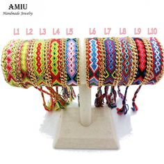 AMIU Jewelry Friendship Chain & Link Wrap Embroidery Cotton Woven Rope Friendship Bracelets Brazilian For Women Men Dropshipping #Affiliate