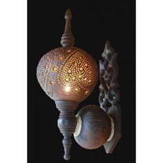 Coconut shell lamp