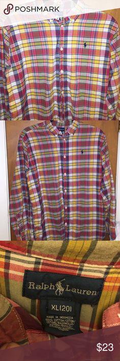 Boys Sz XL (20) Ralph Lauren Polo Button Down Boys XL Button Down Dress Shirt - new like condition. No defects. Ralph Lauren Tops Button Down Shirts