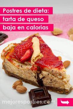 Postres De Dieta Tarta De Queso Baja En Calorias Postres De Dieta Tartas Postres Saludables