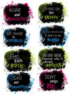 """""""random emo quotes I guess! :)"""" by senevasimmons ❤ liked on Polyvore"""