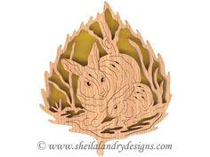 FL151 - Forest Leaf Rabbits Pattern