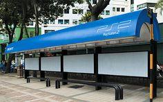 Sorprendente parada de autobus