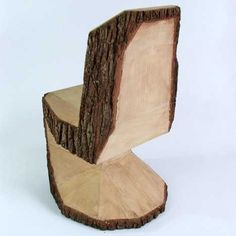 25 Handmade Wood Furniture Design Ideas, Modern Salvaged Wood Chairs, Stools and Benches. I was thinking a MUCH simpler version of this chair for kids outside.