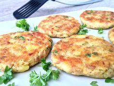 tunakove karbanatky Salmon Burgers, Food And Drink, Low Carb, Cooking Recipes, Gluten Free, Vegetarian, Snacks, Chicken, Baking