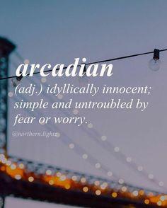 Arcadian utopia