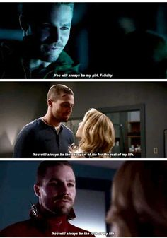"""""""you will always be the love of my life"""" Arrow Tv Shows, Arrow Cw, Dc Tv Shows, Team Arrow, Arrow Quote, Scandal Quotes, Glee Quotes, Scandal Abc, Arrow Oliver And Felicity"""