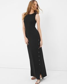 White House | Black Market Button Maxi Dress #whbm