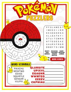 This is the perfect party favor for that Pokemon [Go] party youre planning!  This is a digital file that you will have available to download after you purchase via Etsy. NO TANGIBLE ITEMS WILL BE SENT TO YOU  ***WHAT YOU GET*** 1 High Quality 300dpi PDF files 8.5x11 delivered instantly after you purchase. **HOW TO PRINT** For pdf files, open in ADOBE READER and click Fit in your paper sizing area in your print window to get the best quality print  Note that most home printers do not print to…