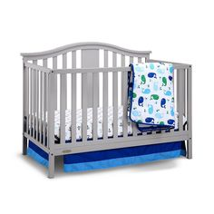 Graco Solano 4-in-1 Convertible Crib with Mattress, Grey